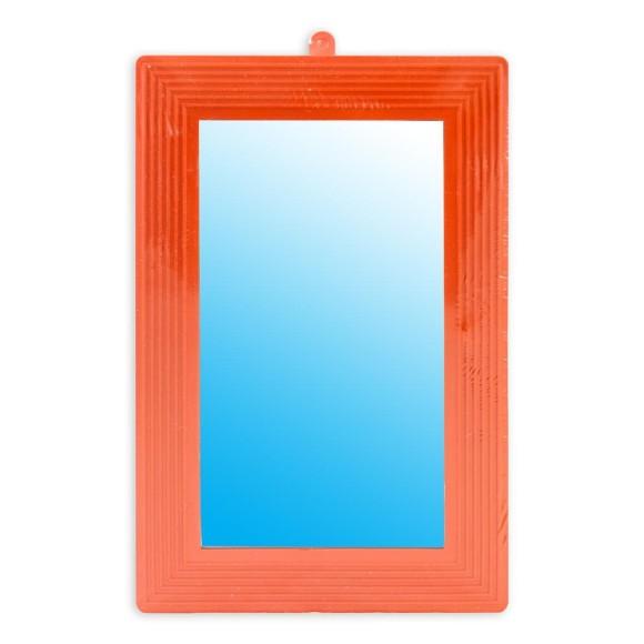 Espelho Moldura Plastica Laranja 23 x 16 Com 6